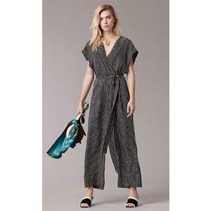 Diane Von Furstenberg silk short sleeve jumpsuit